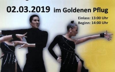 Vorverkauf für unser Heimturnier der Formationen startet am 07.01.2019 !
